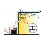 Groupe froid negatif split horizontal plafonnier 8 à 12 m3